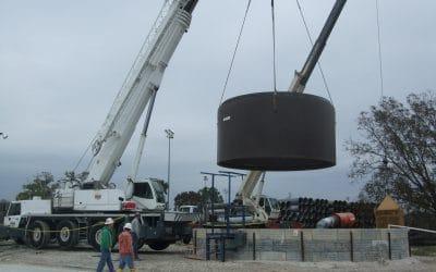 16′ Diameter Steel Reinforced Polymer Concrete Wet Well